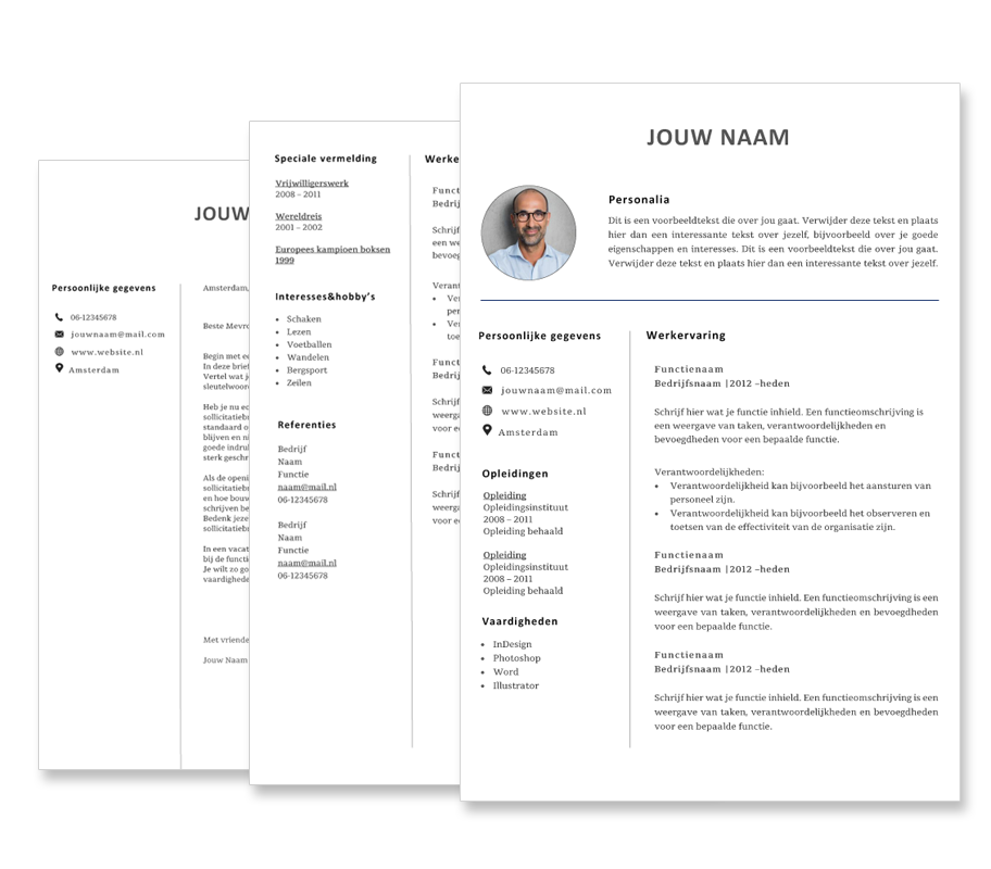 gratis cv template in word downloaden