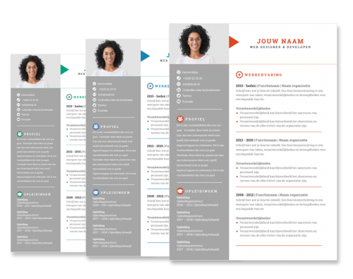Presentatie cv template arrow