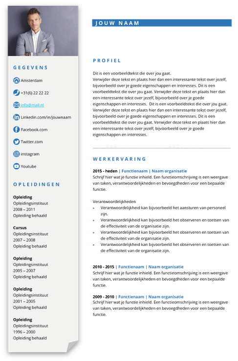 presentatie business template blauw