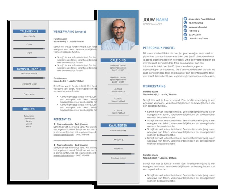 presentatie template corporate blauw