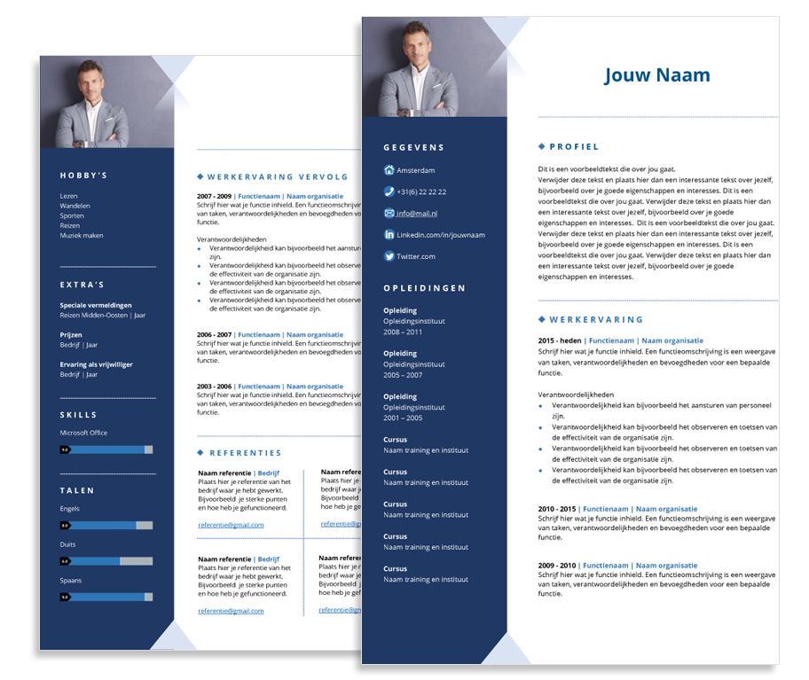 presentatie template enterprise blauw