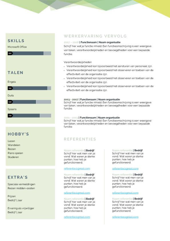 Presentatie template creative groen blad 2