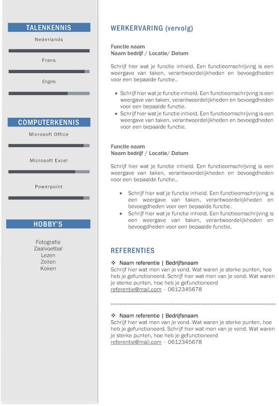 presentatie template corporate blauw blad 2