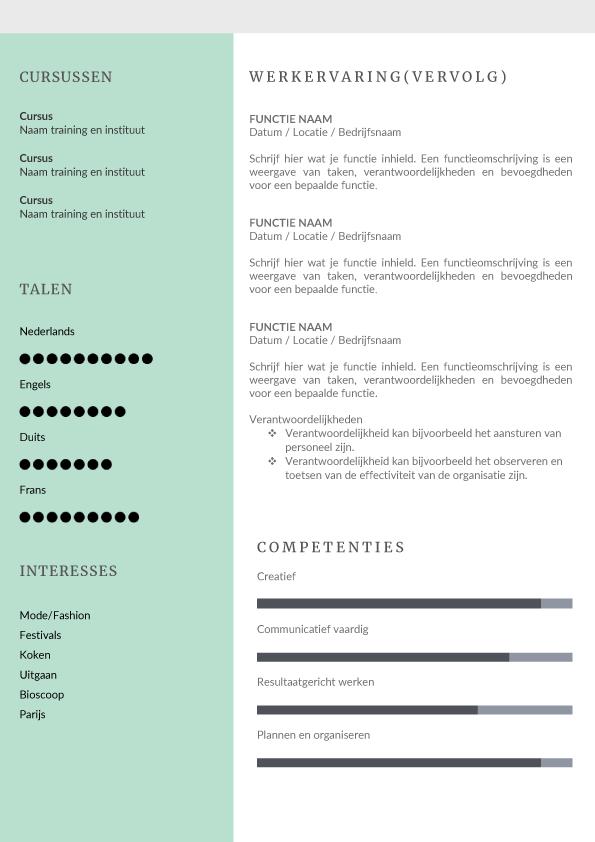 Presentatie template fashionista turquoise blad 2
