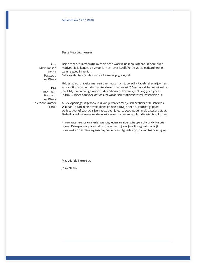 presentatie sollicitatiebrief template career