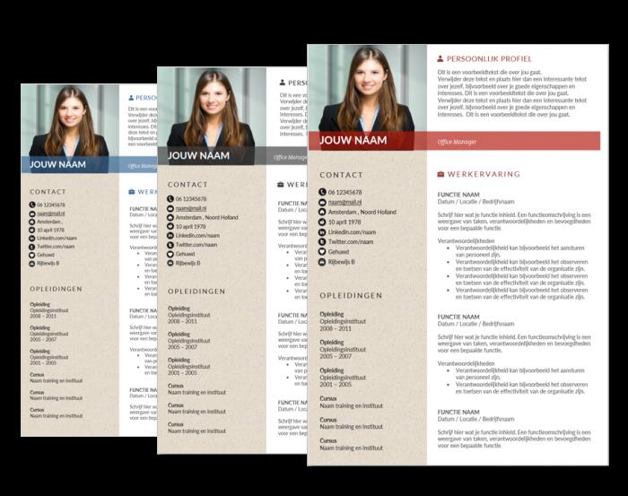 presentatie cv template universal