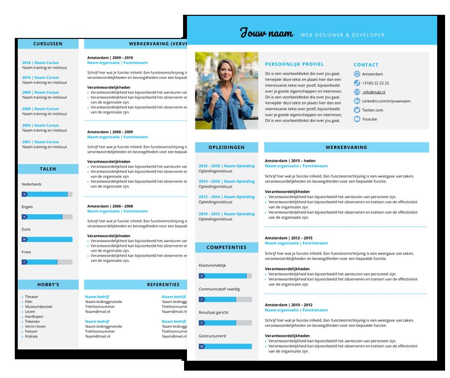 presentatie template smart blauw