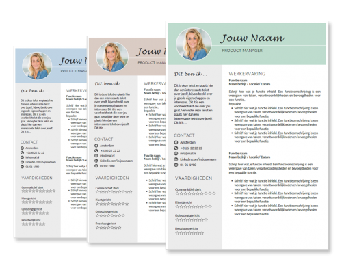 presentatie sublime template voor cv layout