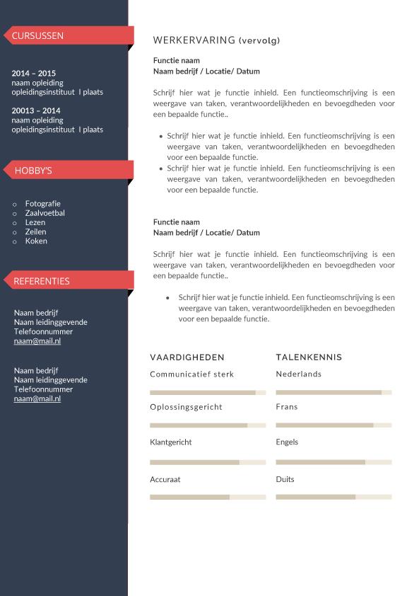 presentatie cv template personal rood blad 2