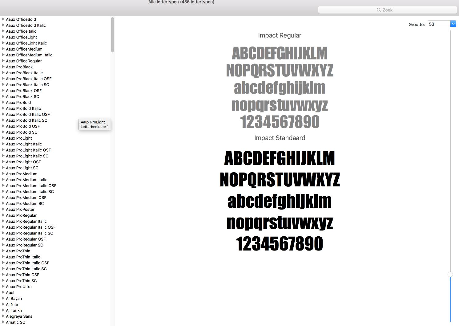 Voorbeeld font installeren op een apple computer